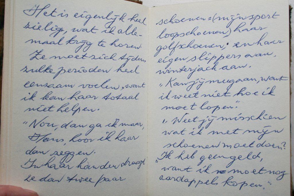 Fragment uit het dagboek van Hans.